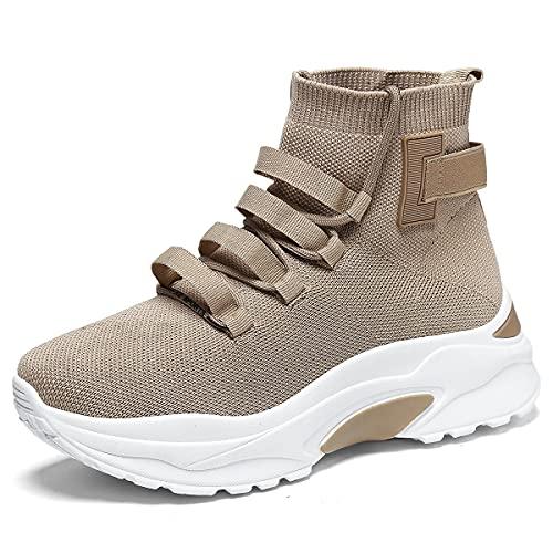 EXSADER Donna Scarpe Casual Sneakers Piattaforma Leggera Traspirante Comoda Ginnastica Sportivo Passeggio Atletica Correre Scarpe