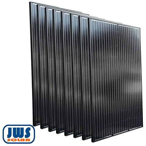 Solarpanel Solarmodul 8 x 310 W 24 V SCHWARZ BLACK Edition 24V OFF ON GRID