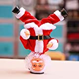 YYaaloa Headstand Santa Claus, Singing and Dancing Electric Toy, Santa Claus Figure Christmas Santa Claus Christmas Xmas Gift for Kids (Style 2)
