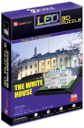 CubicFun- Puzzle 3D LED La Casa Blanca (CPA Toy Group Trading S.L. L504)