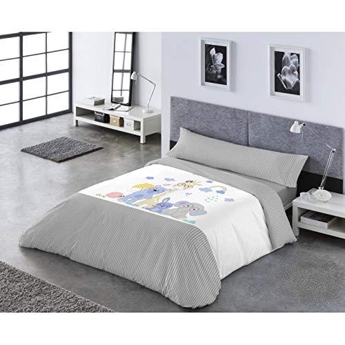 Catotex Funda NÓRDICA Reversible PASATA 3/Piezas, Modelo: YOGUI, Color: 11-Gris, Medida: Cama DE 105x190/200cm.