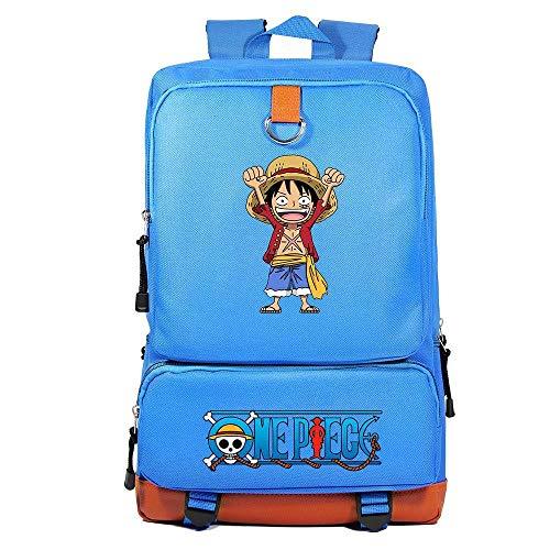 Anime Mochila One Piece Casual Mochila del Ordenador Portátil Mochila Escolar Vuelta al Cole para Hombre y Mujer Bolsa Mochila de Viaje