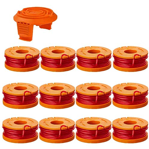 """LEIMO Line String Trimmer Replacement Spool,10ft 0.065"""" Replacement Autofeed Edger SpoolCompatible with Worx WG180 WG163 WG175 WA0010 (13 Pack) Weed Eater String,Weed Wacker Spool Replacement Parts"""