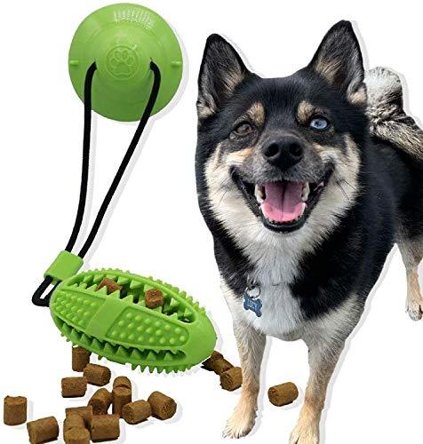 ASEDRF Saugnapf-Hundespielzeug-Kugel-Treat Spender Interactive Tauziehen Pet Rope Spielzeug Pet Bade Sticks Zu Duschwanne Kleinen Welpen Zahnen Badezubehör Pet Molar