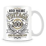 Lawenp Tazza da caffè, vintage 2000 invecchiata alla perfezione Tazza da caffè in ceramica regalo personalizzata, 11 once, bianco