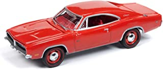 Johnny Lightning JLMC019 Muscle Car 1969 Dodge Charger VER A Charger Red