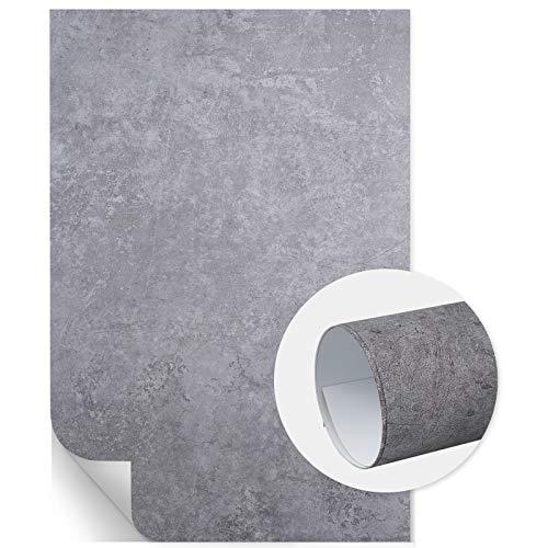 Selens 60x90cm PVC Hintergründe Grauer Zement-A Fotografie Hintergrund Flat Lay Background Backdrop für Lebensmittel Kosmetik Produkt Fotografie Foto Shooting