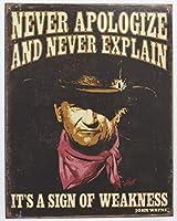 Wayne Sing of Weakness ブリキ看板 ビンテージ風 32×40cm 輸入品