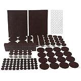 Filzgleiter set, 246-Teilig Matdom Filzgleiter Sortiment, Filzunterleger,9 Größen Möbelgleiter für Möbel, Stühle und Tische, Hochwertig und Langlebig