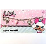 Pink LOL Doll Metal Charm Bracelet for Gift Party Favors etc (Pink LOL Doll (Metal))