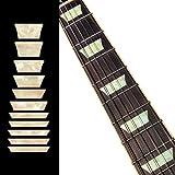 Inlay - Diapasón para guitarras y bajos - Dish/trapecio Les Paul Style - Perla blanca envejecida