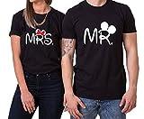Mister Misses Partnerlook Camiseta de los Pares Dulce para Parejas como Regalos, Größe2:L;Partner Shirts:Damen T-Shirt Weiß