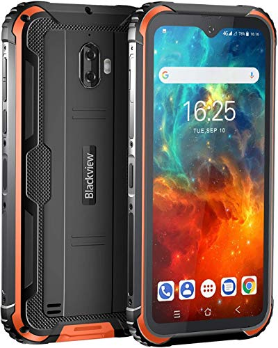 Unlocked Cell Phones, Blackview BV5900 Rugged Smartphone 5.7' HD+ Screen IP68 Waterproof Phones, 13MP Camera 3GB + 32GB 5580mAh Battery Dual SIM for GSM AT&T T-Mobile, Yellow
