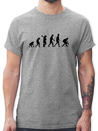 Entwicklung und Evolution Outfit - Longboard Evolution - S - Grau meliert - Tshirt Longboard - L190 - Tshirt Herren und Männer T-Shirts