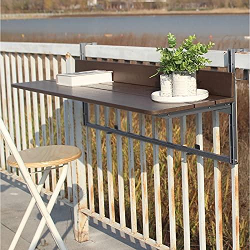 JIE KE Estante de exhibición para balcón, escritorio plegable creativo, mesa de jardín montada en la pared, organizador de almacenamiento de mesa de ocio ajustable en altura (tamaño: 60 x 37 cm)