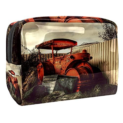 Borsa da Toilette per Donna rullo compressore Borsa Cosmetica Portatile Borsa per il Lavaggio Make up Bag Per Viaggio a Casa Scuola 18.5x7.5x13cm