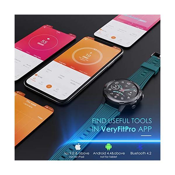 Vigorun Smartwatch Reloj Inteligente Hombre Mujer, Pantalla Táctil Completa Relojes Deportivos, Monitor Ritmo Cardíaco y… 5