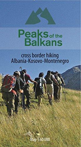 Peaks of the Balkans - cross border hiking / Dreiländereck Rundwanderung durch Albanien, Kosovo und Montenegro - topographische Wanderkarte 1:60.000