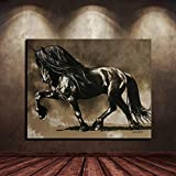 Art Lion Leopard Animal Print Simple Poster Art Canvas Painting Home Decor Chic Wall Decor Living Room Cafe Mural (No Frame) A2 60x80CM
