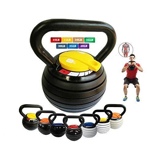 10-40LBS Kettlebell Weights Set, Adjustable Kettle...