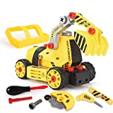 BeebeeRun 7-in-1 DIY Take Apart Truck Car Toys for 3 4 5 6 7 Year Old Boys Girls, Construction...