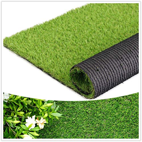 """Artificial Grass Thick Turf (1.38"""" Custom Sizes) Multi-use Fake Pet Grass Indoor/Outdoor Rug Synthetic Lawn Carpet,Faux Grass Landscape for Patio,Garden,Astroturf for Dogs with Drain Holes"""