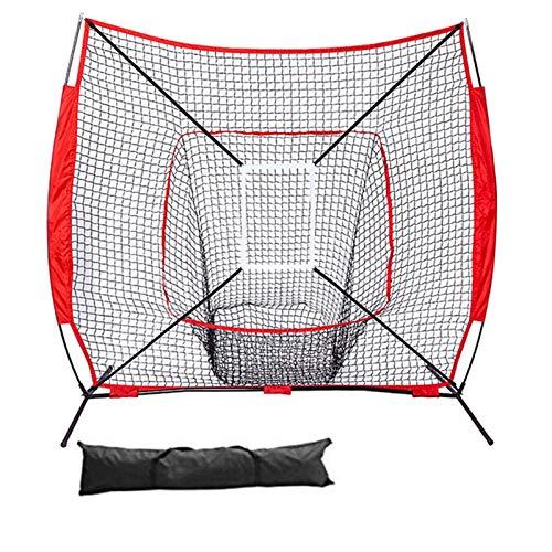YaGFeng Red De Práctica De Béisbol 7 × 7 pies Béisbol y práctica de Softball Que golpean la práctica de Lanzamiento de la Zona de Huelga de béisbol Neta Adecuado para La Práctica De Bateo