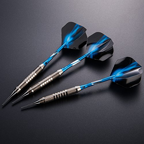 Leaptech Dartpfeile Soft dartpfeile 3 Stück 18 g Dartset Turnier Soft Tip Dartpfeile Set, (Soft Dartpfeile) mit Flights (Blitz)
