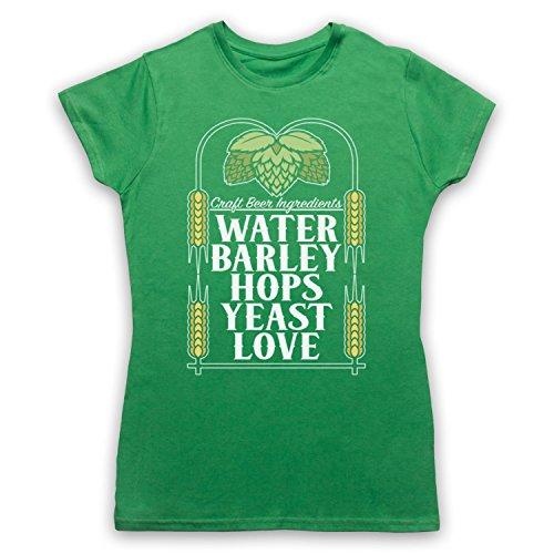 Mijn icoon kunst & kleding ambacht bier ingrediënten water gerst hop gist liefde Womens T-Shirt