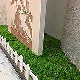 soundwinds Kunstrasen Rasen Grün Kunstrasen Teppich Gefälschte Faux Gras Matte Hausgarten Moos für Haus Boden DIY Hochzeitsdekoration Gras 100100 cm - 2