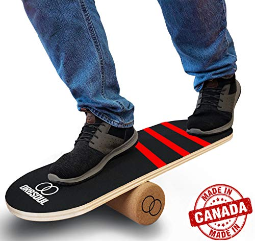 Orbsoul Premium Balance Board Trainer with 100% AllNatural Cork Roller… Red