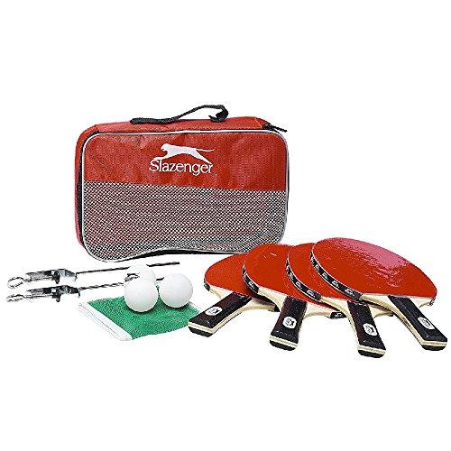 SLAZENGER 12 TLG. Tischtennis Tischtennisschläger Schläger Tischtennisnetz Tischtennisball Netz Bälle Set