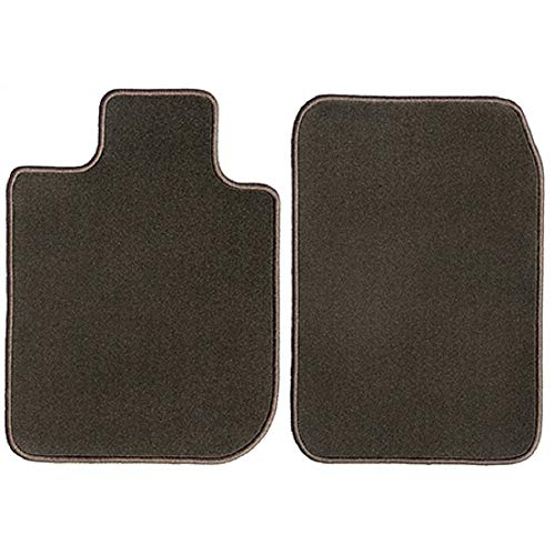 GGBAILEY Chocolate Brown Driver & Passenger Floor Mats Custom-Fit for Ferrari 575M with Factory Installed Fire Extinguisher 2002-2006