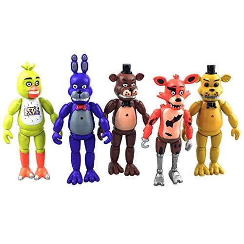 Nuevo popular Five Nights At Freddy's Lighting Juego de figuras de acción de PVC FNAF Foxy Bonnie Freddy Fazbear Bear Anime Dolls Model Toy Regalo para niños