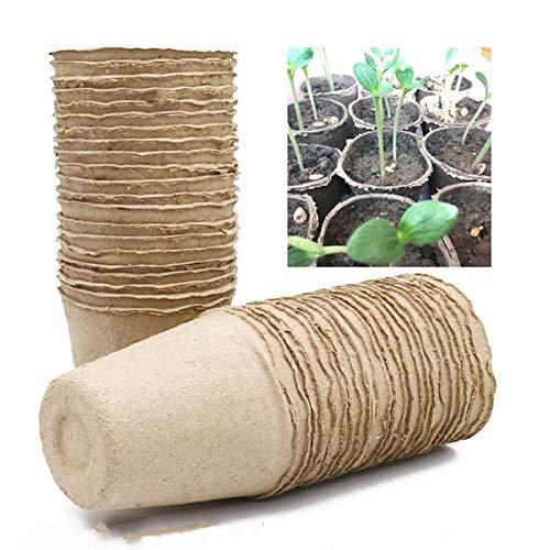 DIMDIM 5/10 bandejas para bolsas de semillero, macetas de papel, plantas y semillas, flores, ecológicas, biodegradables, para guarderías de jardín, absorbiendo agua (color: 10 unidades)