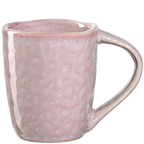 Leonardo Matera Espresso-Tasse 1 Stück, spülmaschinengeeignetes Espresso-Glas, 1 Mokka-Becher aus Steingut, Keramik-Tasse, rosa 90 ml, 018577