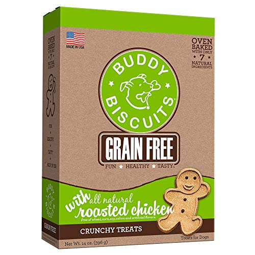 BUDDY BISCUITS 28130  Grain Free Oven Baked Treats with Roasted Chicken - 14 oz