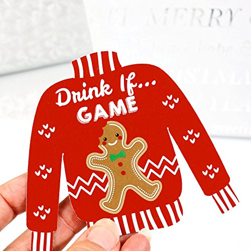 Drink If Game – Ugly Sweater – Christmas Party Game – 24 Count