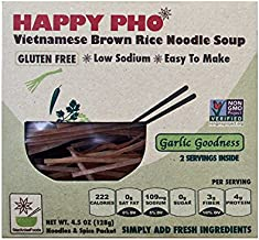 Star Anise Foods - NON GMO Gluten Free Vietnamese HAPPY PHO Garlic Goodness - 4.5 oz / 2 Servings per box, Pack of 6 boxes