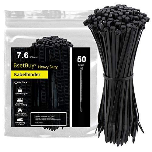 Kabelbinder befestigen Wiederverwendbare Kabelbinder aus Mikrofasertuch, schwarz