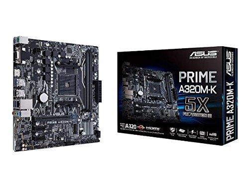 ASUS PRIME A320M-K AMD Ryzen AM4 DDR4 HDMI VGA M.2 USB 3.1 Micro-ATX Motherboard