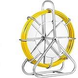 VEVOR Cable de Fibra de Vidrio 6 mm x 130 m, Rodillo de Conducto de Cinta 6 mm x 130 m, Cable de Alambre de Fibra de Vidrio, Continuo Funcionamiento de Alambre de Tracción
