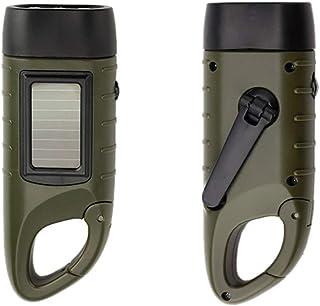 AOZBZ Handkurbel Taschenlampe Solarbetriebene Notfackel Solarenergie Taschenlampe Taschenlampe Lampe Handkurbel LED-Taschenlampe Handkurbel Taschenlampe für Trip Camping Outdoor Wandern