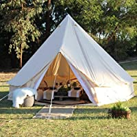 TentHome 4 seasons waterproof cotton bell tent with stove hole on the roof Glamping tent for camping Christmas party