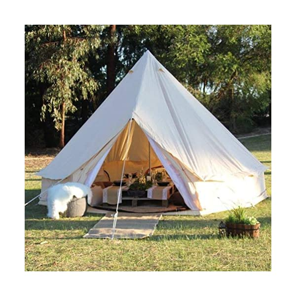 TentHome 4 seasons waterproof cotton bell tent with stove hole on the roof Glamping tent for camping Christmas party 1