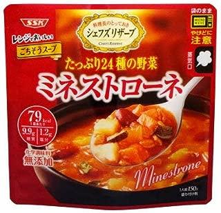 SSK シェフズリザーブ レンジでごちそう「ミネストローネ」1人前(150g)(電子レンジ調理対応)(スープ)(インスタントスープ)