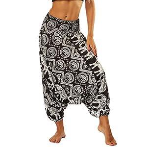 Nuofengkudu Tailandeses Pantalones Cintura Alta Estampado Baja | DeHippies.com