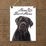 CANE CORSO mod 3 Home Sweet home Targa piastrella cartello ceramic tile dog