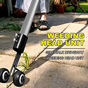 VISCO Portable Weeds Snatcher Crack and Crevice Weeding Tool Weed Puller Lawn Garden Tools Stand up Manual Weeder with Retractable Handle