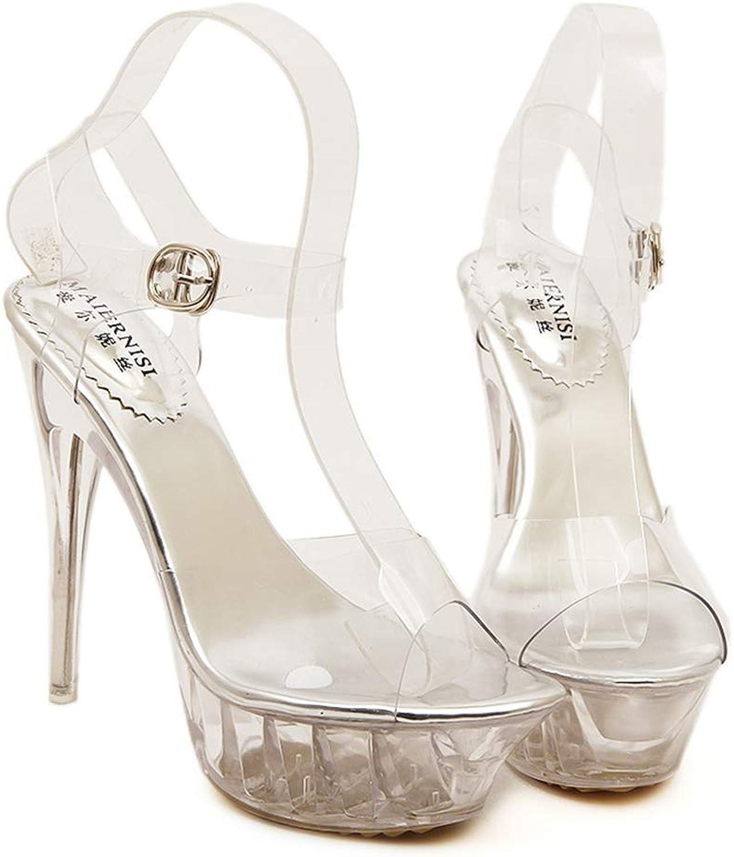 Gusha Women's Sexy Open Toe Platform Stiletto Sandals High Heels Dress shoes